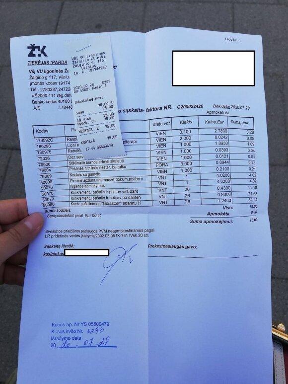 Apsilankymas Žalgirio klinikoje dėl paprastos procedūros apkarto: spėkite, kiek už tai sumokėjau?