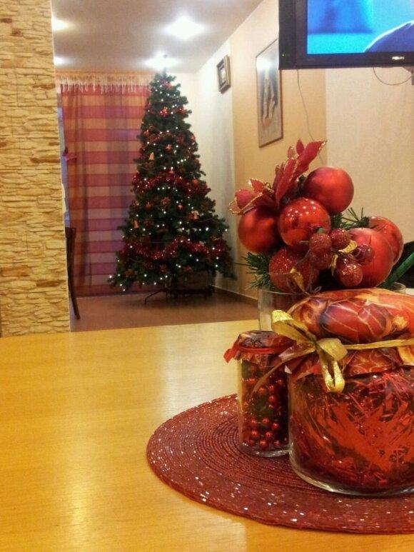Kalėdų eglutė Andriaus Šedžiaus ir Monikos Kvietkutės namuose