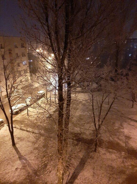 Pirmasis sniegas Utenoje
