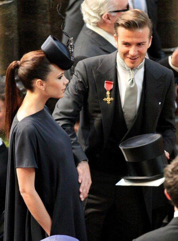 Victoria Beckham, David Beckham, nėščia