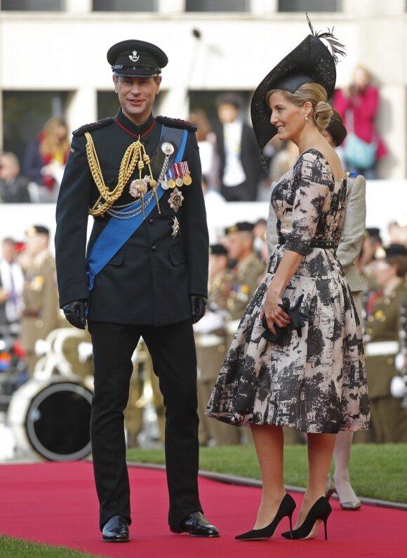 Didžiosios Britanijos princas Edwardas su žmona, Vesekso grafiene Sophie.