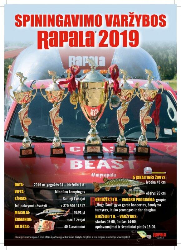 """Rapala taurė 2019"" plakatas"