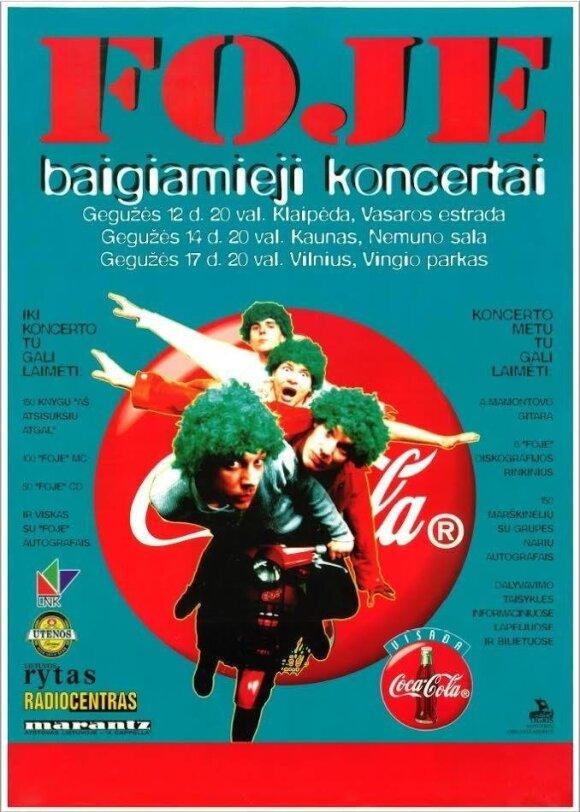"""Grupės """"Foje"""" koncerto plakatas"""