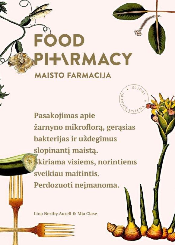 """Knygos """"Food Pharmacy / Maisto farmacija"""" viršelis"""