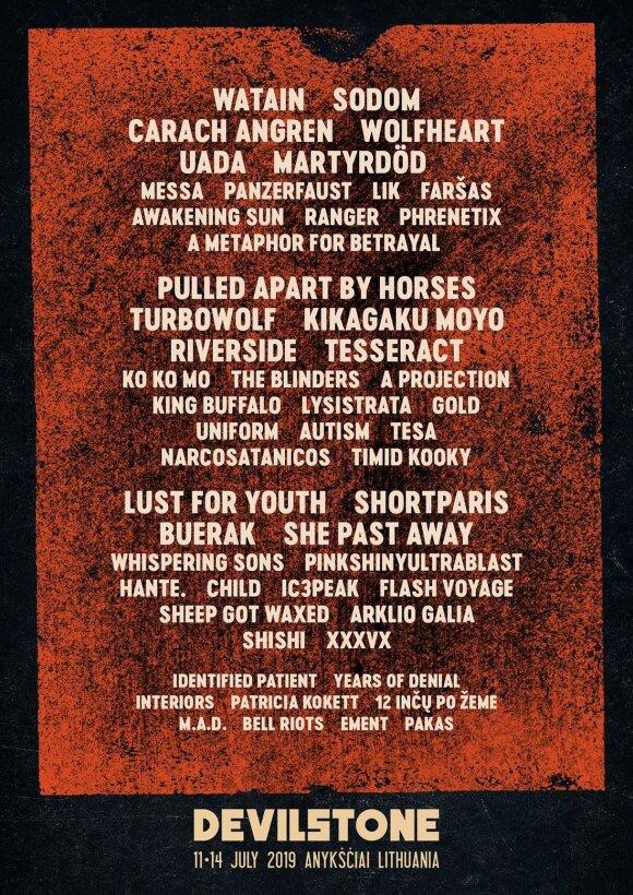 """Festivalis """"Devilstone"""" atskleidžia galutinį atlikėjų sąrašą"""
