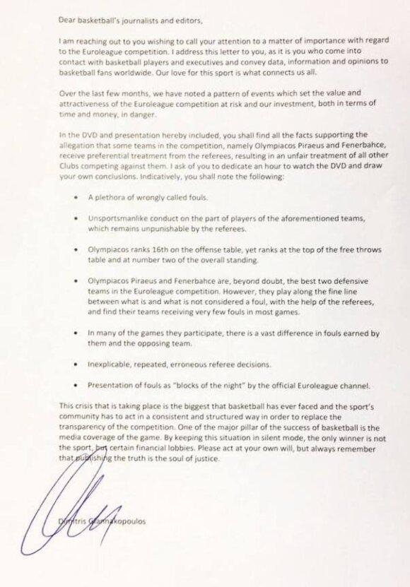 Giannakopoulos laiškas
