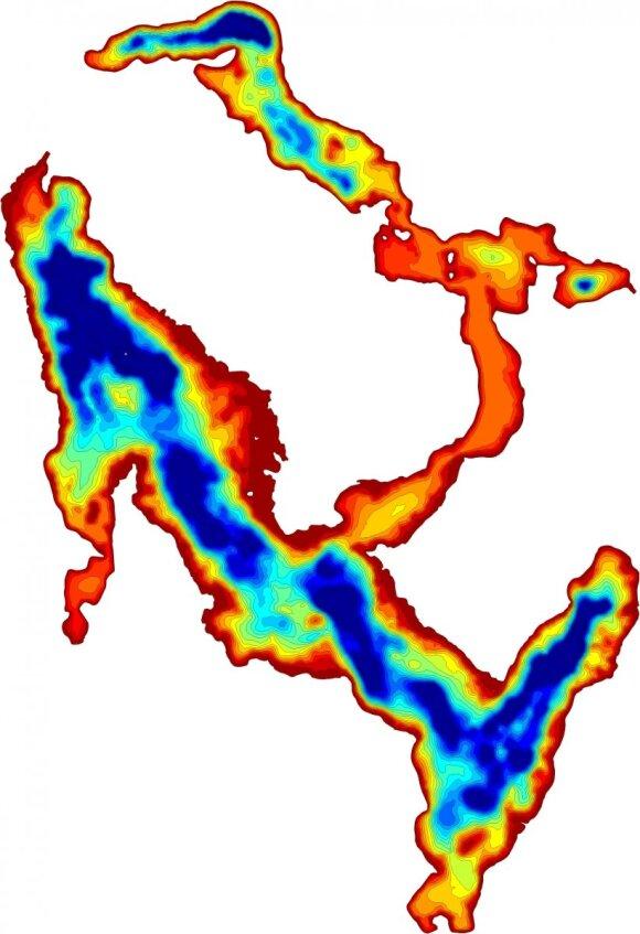 Daugų ežero vaizdas matomas naudojant programėlę