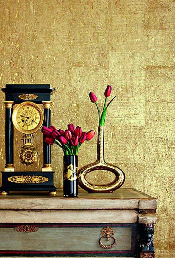Aukso spalva interjere: šiuolaikinės variacijos stereotipų nepaiso