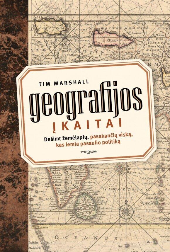 """Knygos """"Geografijos įkaitai"""" viršelis"""