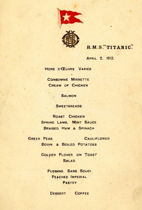 """Titaniko"" meniu"
