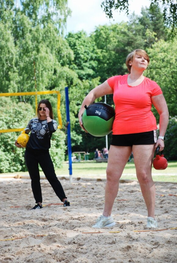 Sieks parodyti, jog sportuoti gali bet kokio sudėjimo žmogus