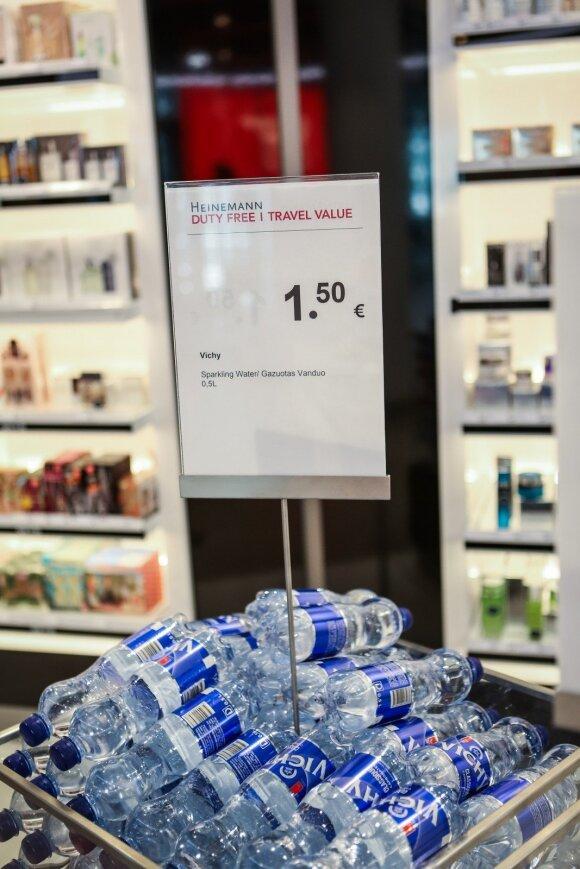 Vandens kainos Vilniaus oro uoste