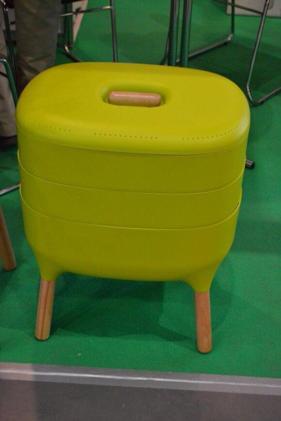 Sodo suolelis-kompostavimo dėžė.