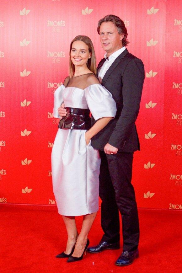 Jurgita Jurkutė su vyru