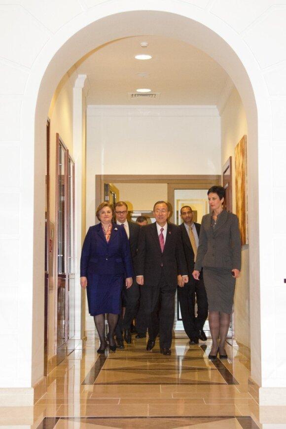 Loreta Graužinienė ir Ban Ki-moonas