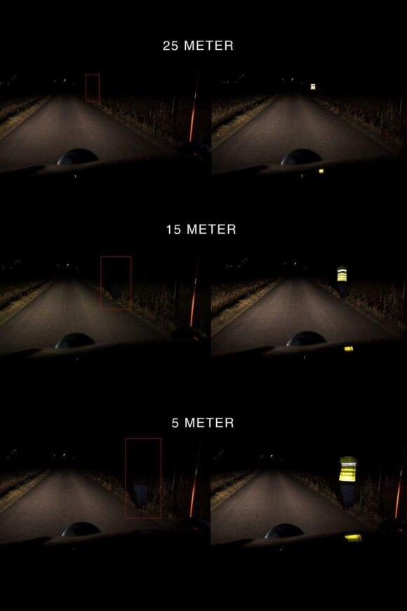 Vairuotojo matomumas naktį