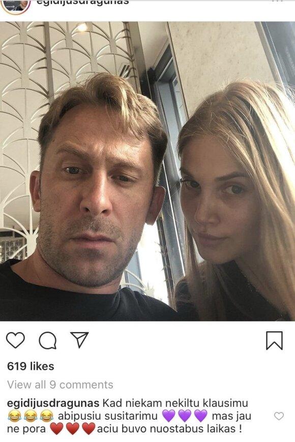 """Egidijaus Dragūno įrašas """"Instagram"""""""