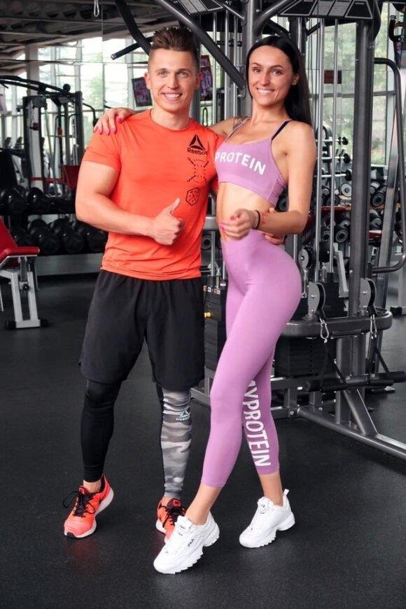Gyvenimo be sporto neįsivaizduojanti pora: tai darome ne dėl gražaus kūno