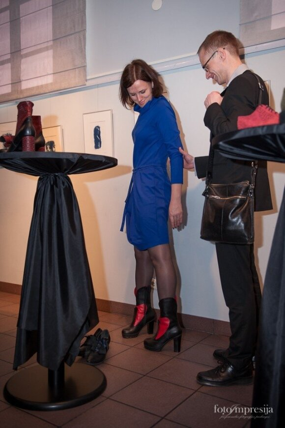 Kėdainiuose pristatyta trečioji Ž. Maslausko rankomis siūtų batų kolekcija