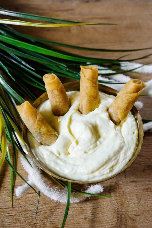 Trijų rūšių sūrio užtepėlė su majonezu