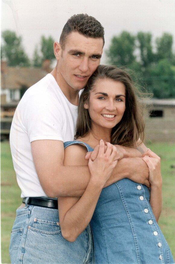 Vinnie Jones ir jo būsima žmona Tanya