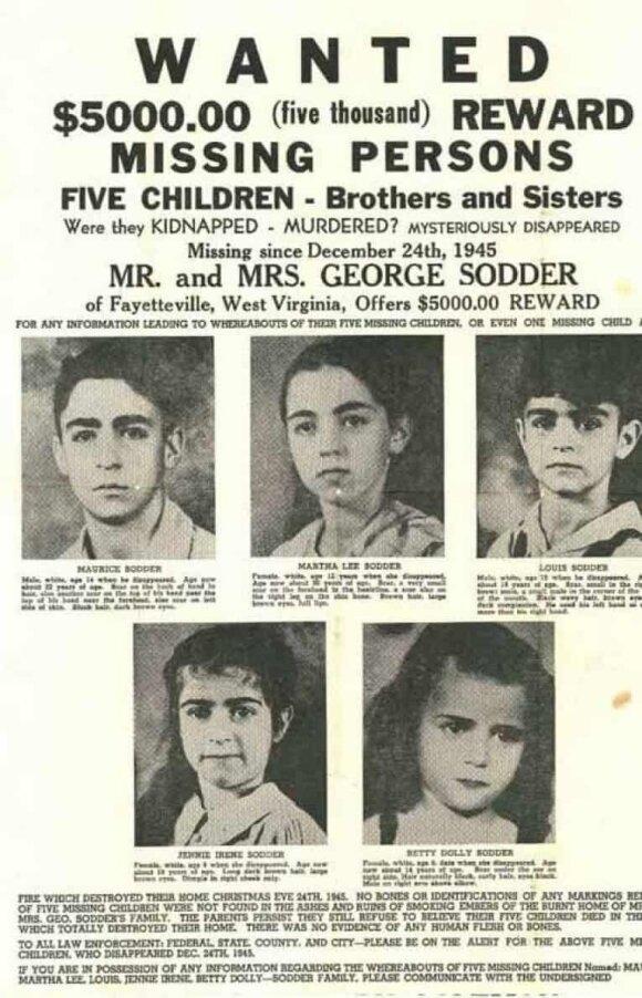 Sodderių vaikų dingimas