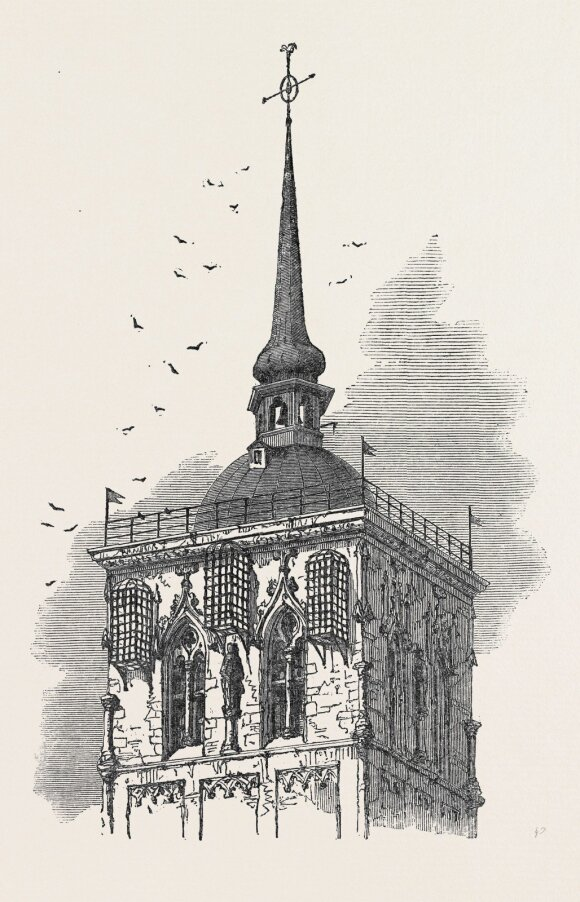 Miunsterio bažnyčia su kabančiais geležiniais narvais