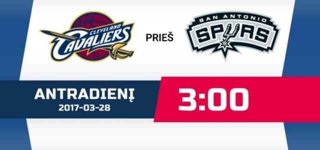 """NBA čempionato rungtynės: """"Cleveland Cavaliers"""" - """"San Antonio Spurs"""""""
