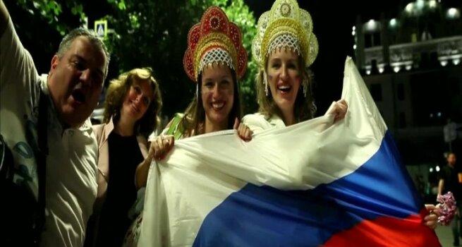 Po dar vienos įspūdingos rusų pergalės - šventė Maskvos gatvėse