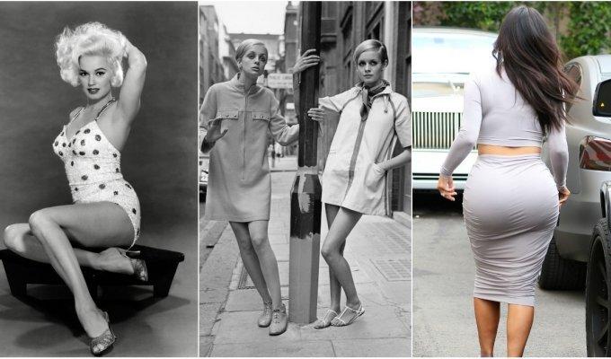 Seniau ir dabar: ideali moters figūra vyrų akimis