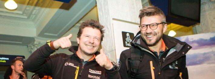 Dakaro ralį įveikęs A. Juknevičiaus ekipažas parskrido į Lietuvą