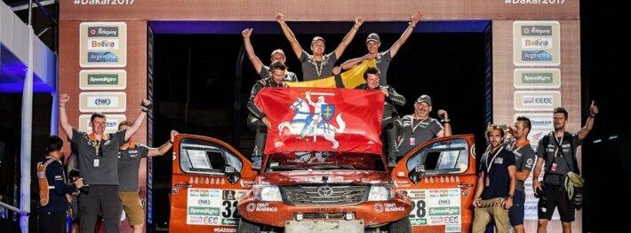 A. Juknevičius užbaigė lietuvišku rekordu pažymėtą Dakaro ralį