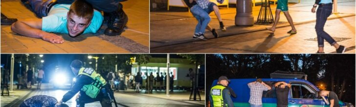Nerami naktis Palangoje: muštynės dėl batų ir draudžiami pirkiniai