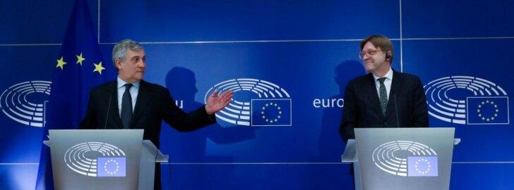 A. Tajani ir G. Verhofstadtas