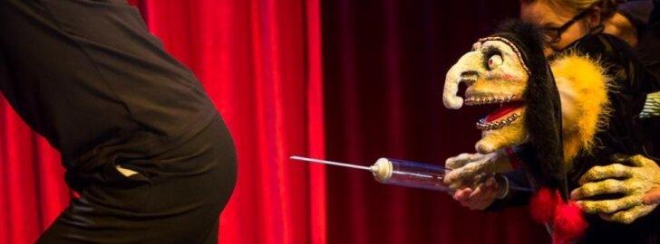 Scena iš spektaklio Moljeras