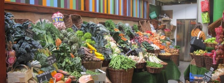 Daržovės ir vaisiai Londono turguje