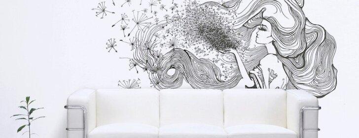 Grafiniai piešiniai – sienų prikėlimas antram gyvenimui