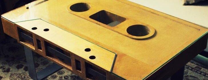 Pasidaryk pats: kasetės formos stalas