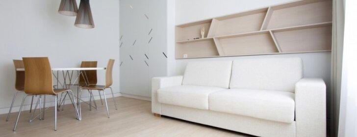 Atostogų buto Druskininkuose interjeras, kuris buvo pripažintas geriausiu 2013 m. privačiu projektu