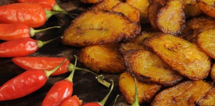 Kepti bananai iš Dramblio Kaulo Kranto