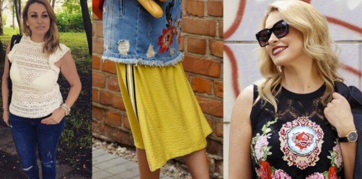 Stilistė parodė, kokius drabužių derinius galėtų rinktis apvalesnių formų merginos