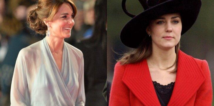 Kate Middleton ankščiau ir dabar