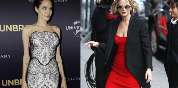 A. Jolie, J. Lawrence
