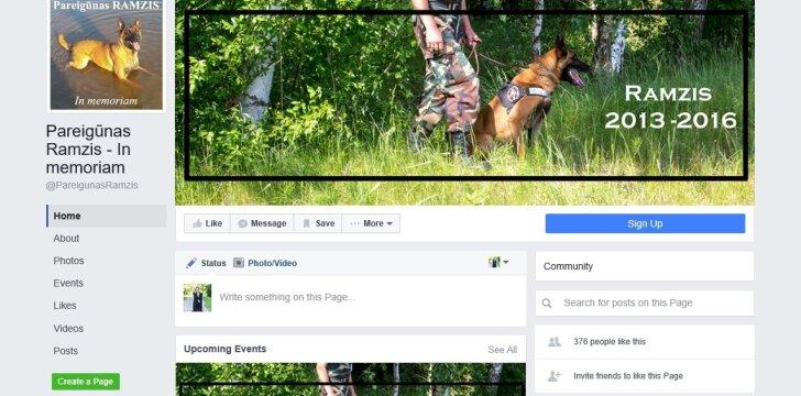 """Ramziui sukurtas """"Facebook"""" puslapis"""