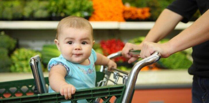 Vagyste iš parduotuvės apkaltintas vežimėlyje sėdintis kūdikis