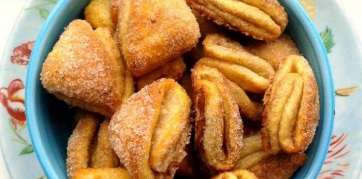 """Varškės sausainiai """"Bučinukai"""""""