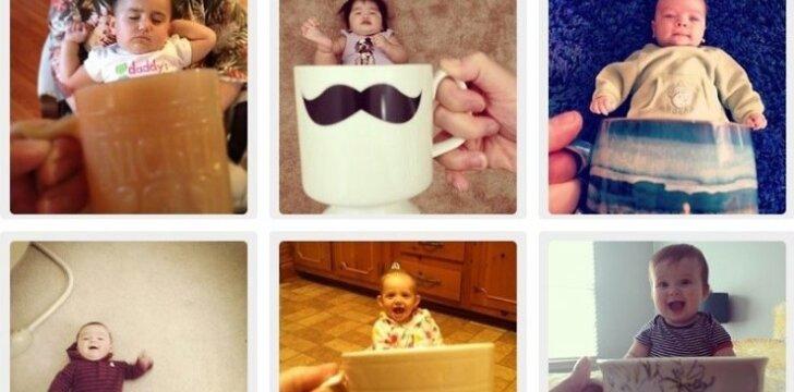 """Internete žaibiškai plinta mada fotografuoti vaikus arbatos puodeliuose <sup style=""""color: #ff0000;"""">Foto</sup>"""