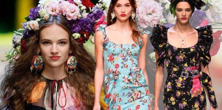 10 gėlėtų suknelių dar nepasiruošusioms atsisveikinti su vasara