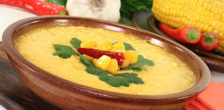 Kukurūzų sriuba su grietinėle