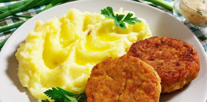 Grikių ir mėsos kotletai